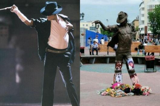La statue de MJ à Yekaterinburg en Russie