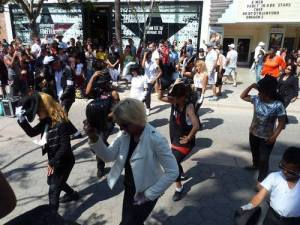 Flash Mob in Santa Monica 1