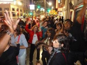 party at MJ's star on the Hollywood Walk of Fame 23 juin