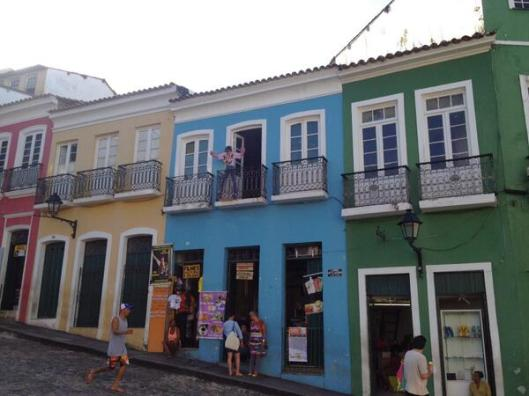 The Pelourinho district of Salvador still has a MJ poster on the TDCAU balcony  Brazil