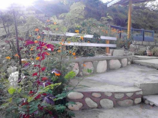 Michael's bench at Everland Haiti