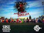 Aztecs Dancing to Michael Jackson's Thriller at the SDSU Halloween Baseball Game