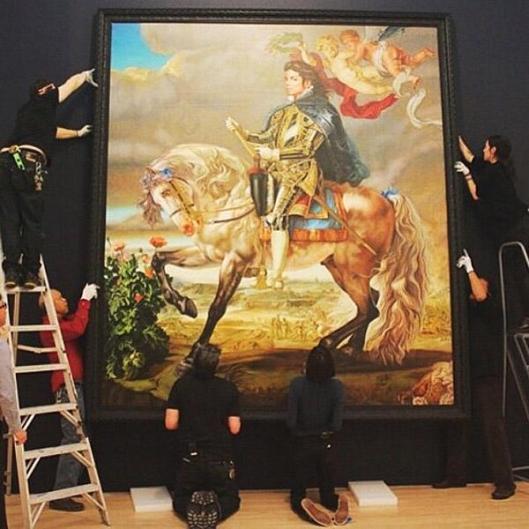 Peinture de MJ par Kehinde Wiley au musée de Brooklyn