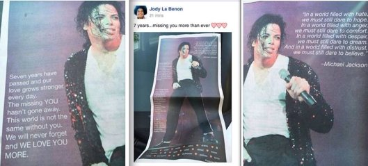 Full page ad LA Daily News today from fans from all over the world #michaeljackson #MJforever