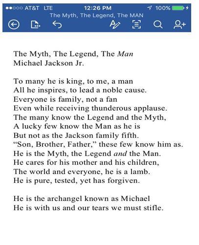Prince Jackson poeme
